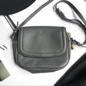 J. Crew Signet Flap Italian Leather Bag